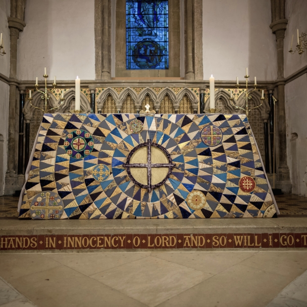 St Mary's Iffley Altar Frontal - Textiles - Work - The Roger Wagner